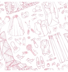 Wedding fashionBridegroom dress seamless pattern vector image