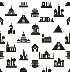 world religions types of temples icons seamless vector image vector image