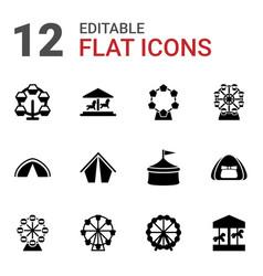 12 fair icons vector