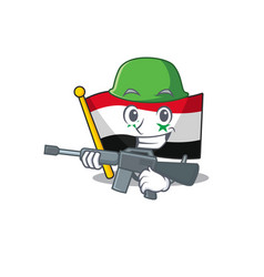 A mascot flag syria scroll army with machine vector
