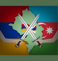 A poster dedicated to war conflict karabakh vector