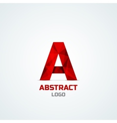 Abstract logo with A letter vector image
