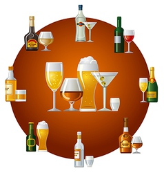 alcohol drinks icon vector image