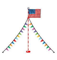 american flag and party triangles vector image
