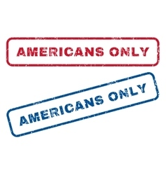 Americans Only Rubber Stamps vector