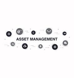 asset management infographic 10 steps circle vector image