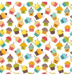 birthday background seamless pattern vector image