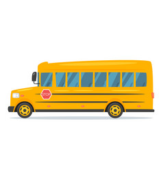 cartoon style school bus vector image
