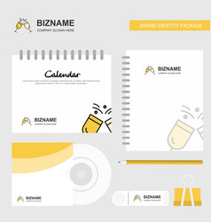 cheers logo calendar template cd cover diary and vector image