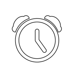 clock alarm pictogram vector image