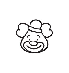 Clown sketch icon vector
