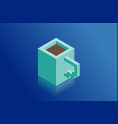 coffee cup isometric vector image