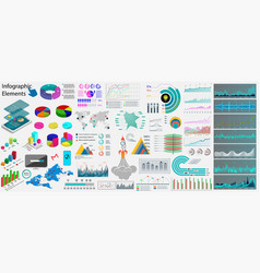 collection business infographics elements vector image