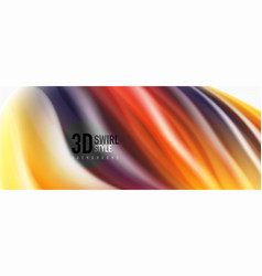 Color flowing waves liquid conceptual abstract vector
