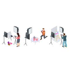 Commercial photography isometric photographers vector