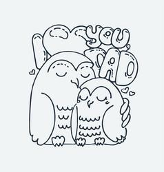 Cute cartoon animal clip art for children design vector
