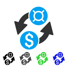 Dollar currency exchange flat icon vector