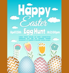 Easter poster template vector