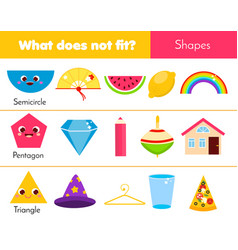 Educational children game what does not fit type vector