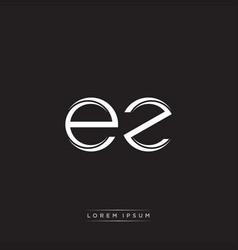 Ez initial letter split lowercase logo modern vector