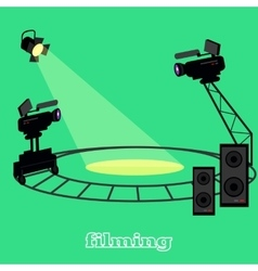 Film Shootings Camera and Projector vector image