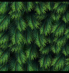 Fir tree branches pattern christmas background vector