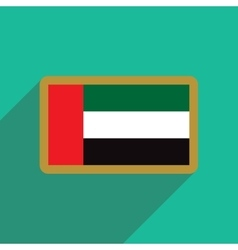 Flat icon with long shadow Flag Arab Emirates vector