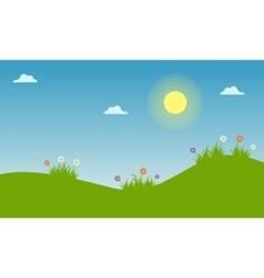 Floral spring landscape of vector image