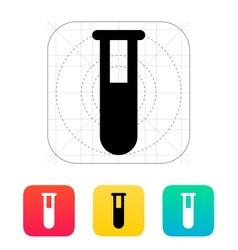 Full test tube icon vector image