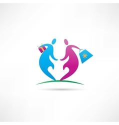 give a gift to your loved one vector image vector image
