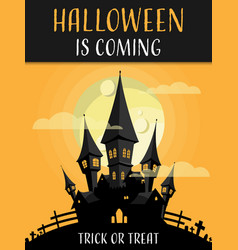 halloween background with trick or treat and vector image