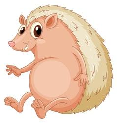 Hedgehog sitting vector