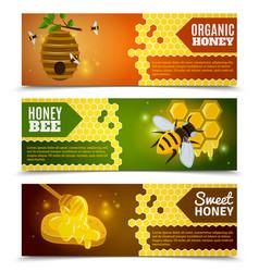 Honey Banners Set vector image