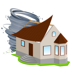 insurance of home hurricane ripped off roof of vector image