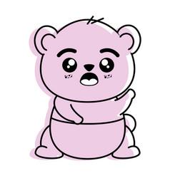Isolated cute panda bear vector