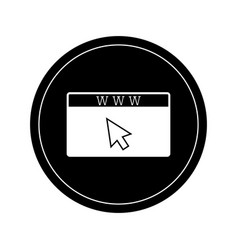 isolated website icon vector image