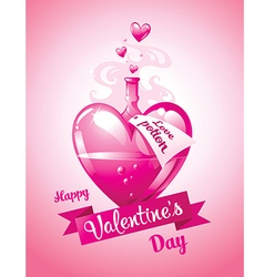 Love potion Valentines Day card vector image
