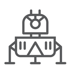 Lunar module line icon science and astronomy vector