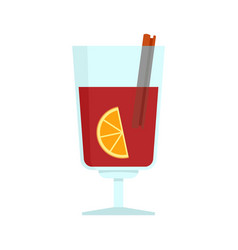 Mulled wine icon flat style vector