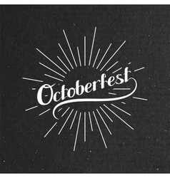 Octoberfest Holiday vector