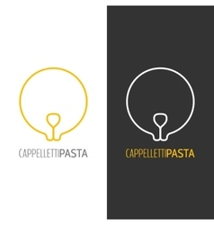 Pasta logo Logotype of food Linear icon vector image