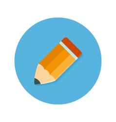 Pencil Flat Circle Icon vector