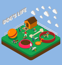 People with pets composition vector