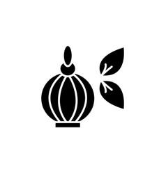 perfume bottle icon black on white vector image