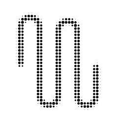 Pipe halftone dotted icon vector