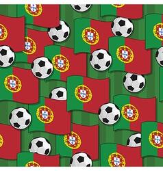 Portugal football pattern vector