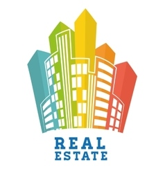 Real estate edifices and residential towers vector
