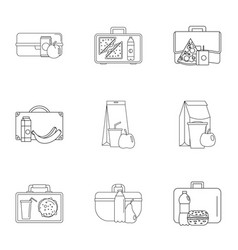 reticule icons set outline style vector image