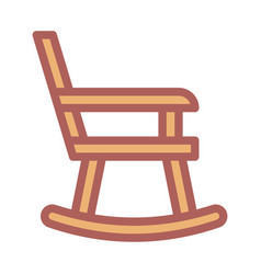 rocking chair icon filled line style eps10 vector image