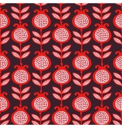 seamless of pomegranates vector image